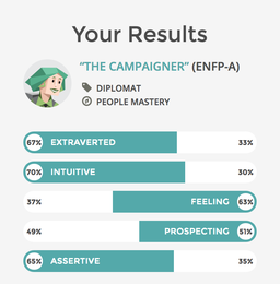 Results of a Campaigner from the best personality quiz